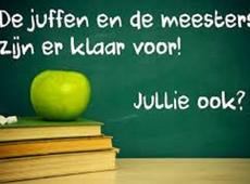 Aan alle leerkrachten en kinderen een fijne eerste schooldag gewenst
