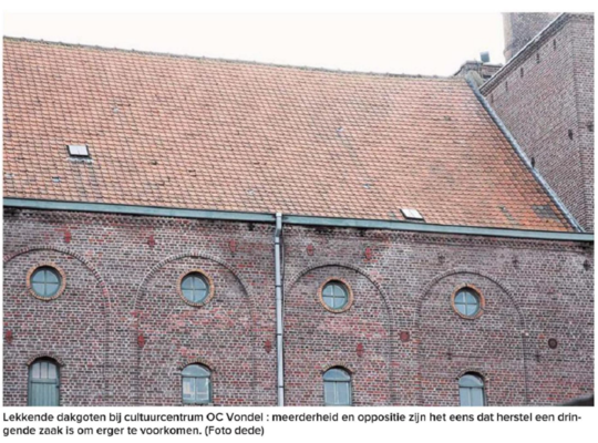 Lekkende dakgoten Vondel
