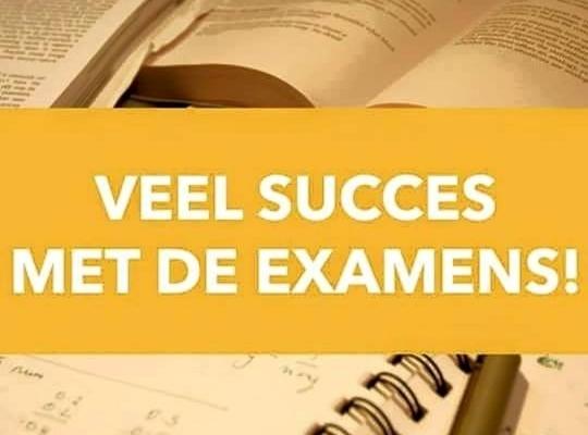 Heel veel succes met de examens
